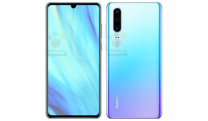 Huawei P30 Electric Blue
