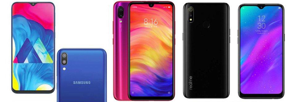 Redmi Note 7 против Samsung Galaxy M20 против Realme 3