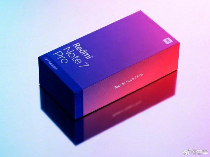 Redmi Note 7 प्रो ग्रैडिएंट रिटेल बॉक्स चीन