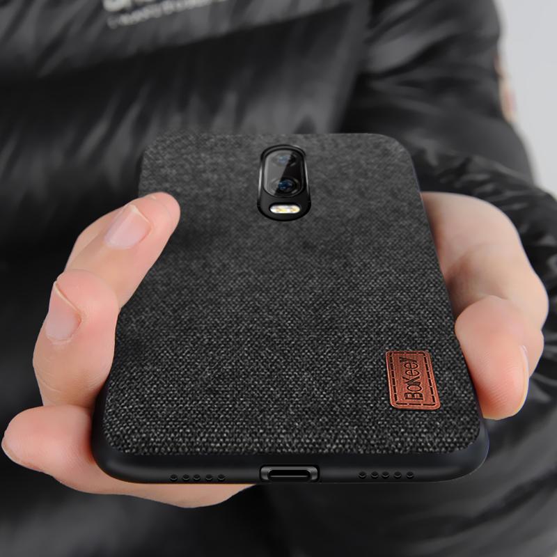 Bakeey Luxury Fabric Splice: силиконовый, ударопрочный защитный чехол