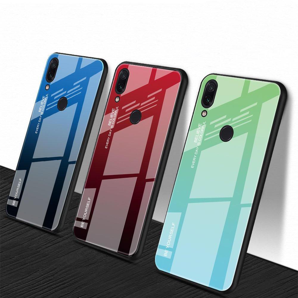 Bakeey Gradient Color: закаленное стекло + мягкая задняя крышка