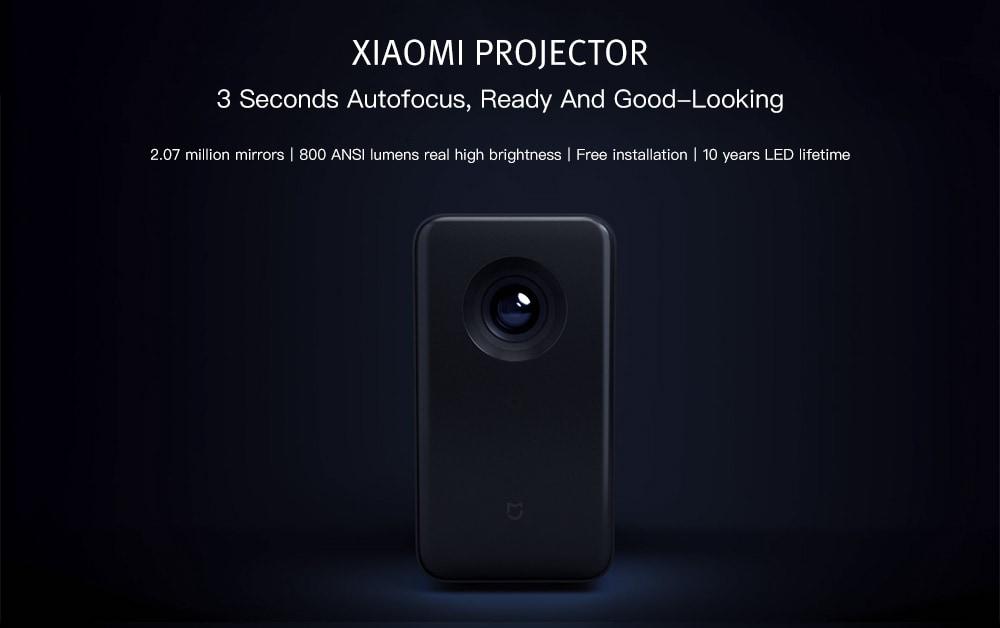 Xiaomi TYY01ZM DLP 3500 люмен Четырехъядерный проектор T968 Cortex-A53 2 ГБ + 16 ГБ Android 6.0 Двухдиапазонный WiFi Поддержка 4K-Cadetblue