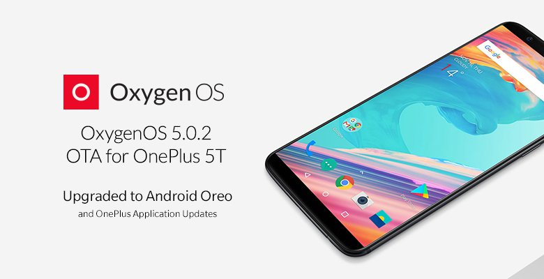 OnePlus 5T Android Oreo