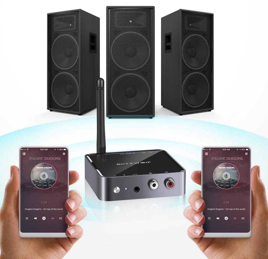 2 Music Adapter 1 BlitzWolf BW-BR4