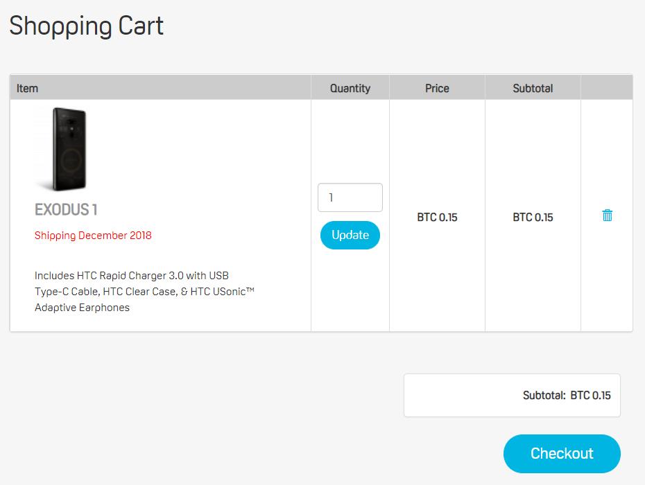 HTC Exodus 1 Оформить заказ
