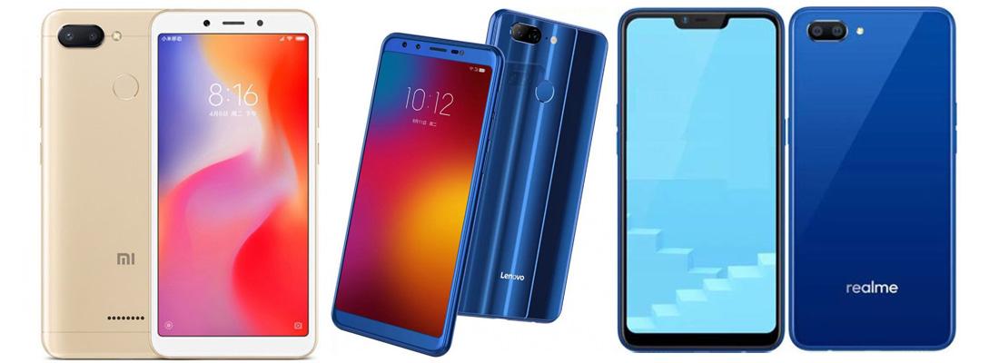 Xiaomi Redmi 6 против Lenovo K9 против Realme C1