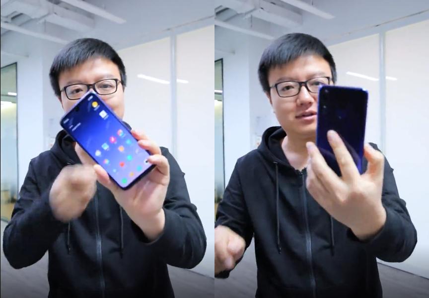 Предположительно Redmi Note 7 спереди и сзади