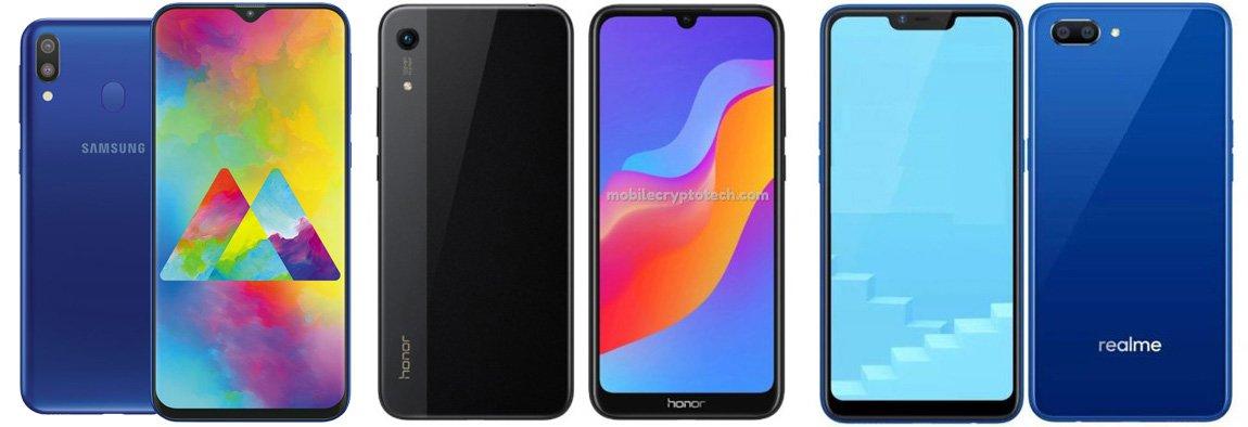 Samsung Galaxy M10 против Honor Play 8A против Realme C1 (2019)