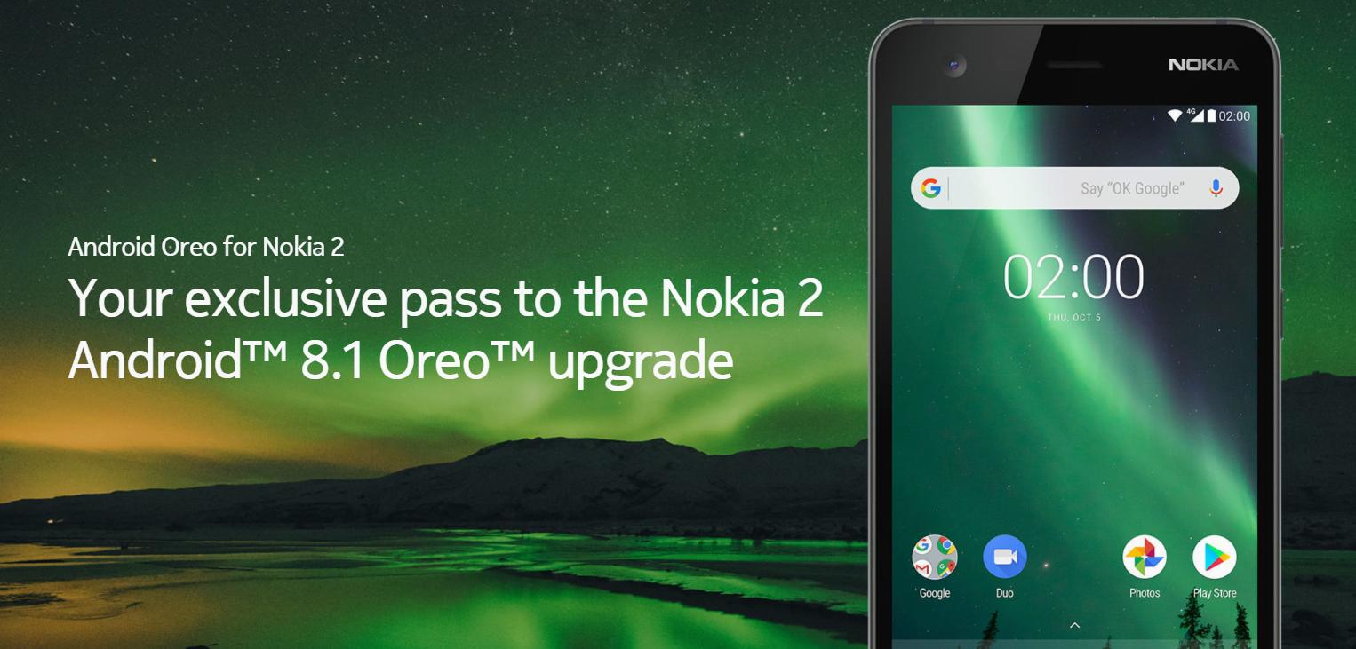 Обновление Nokia 2 Android 8.1 Oreo