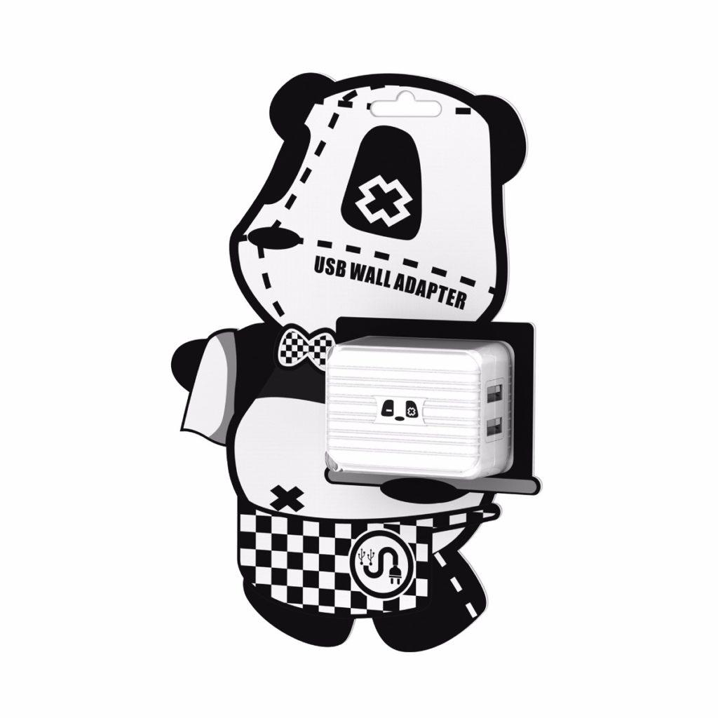Adaptador USB Panda 2U para teléfono móvil de GearVita