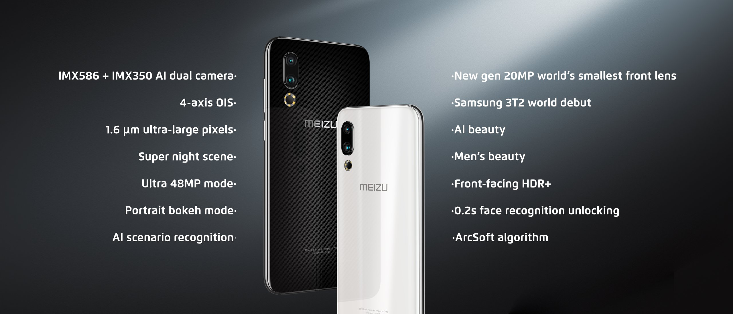 Камеры Meizu 16s