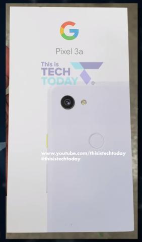 Pixel 3a retail box