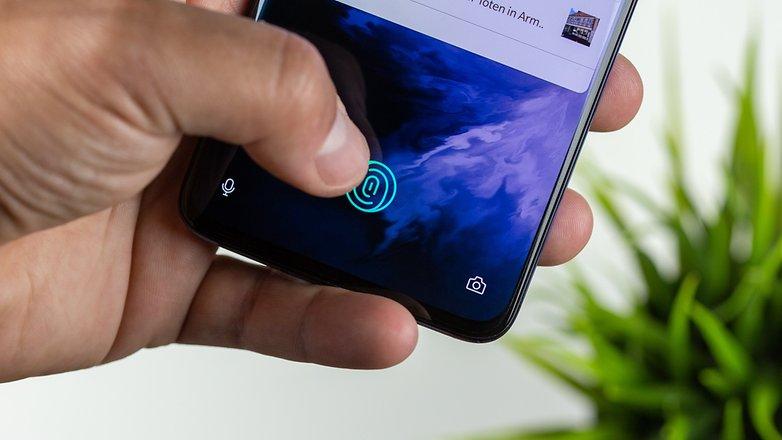 oneplus 7 сканер отпечатков пальцев