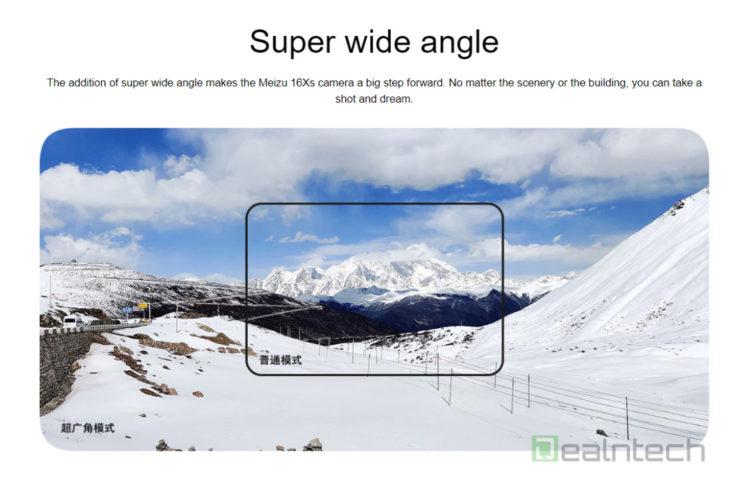 Meizu 16Xs Super Wide angle