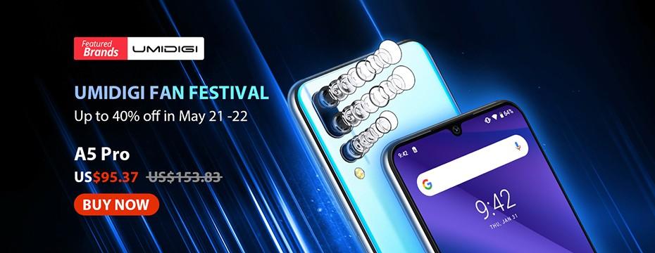 Encomende o smartphone Umidigi A5 Pro por apenas $ 89 em AliExpress [+ cupom]