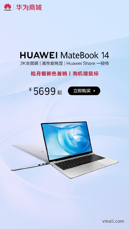 Huawei MateBook 14 Mystic Silver