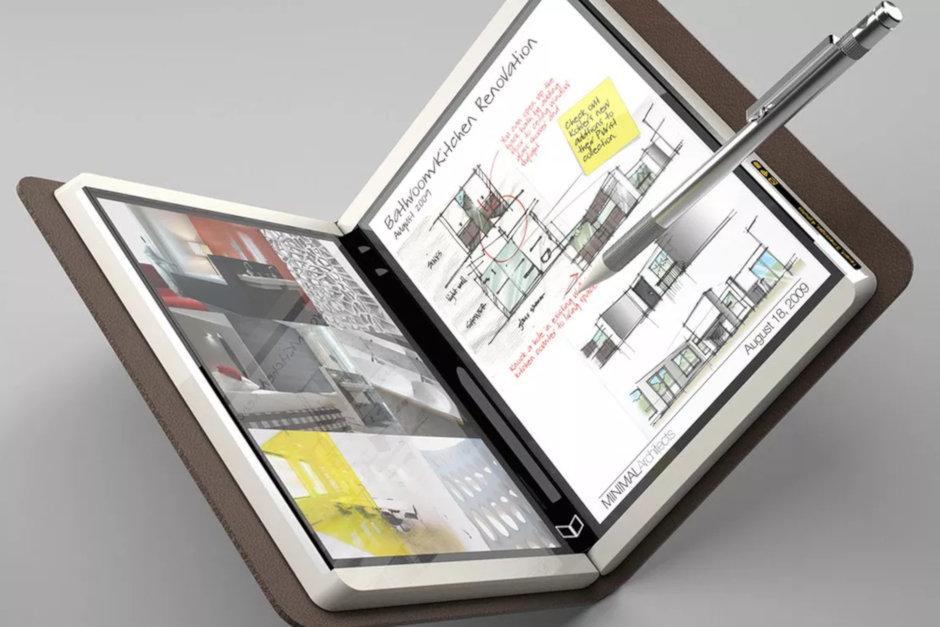 Устройство Foldable Surface, рассчитанное на 2020 год, с 9-дюймовым экраном и поддержкой приложений Android