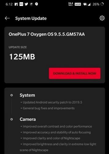 Обновление OnePlus 7