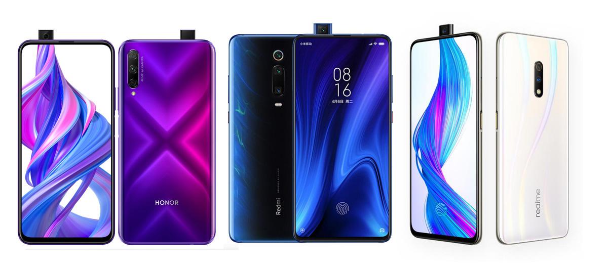 Huawei Honor 9X contre Xiaomi Redmi K20 contre Oppo Realme X