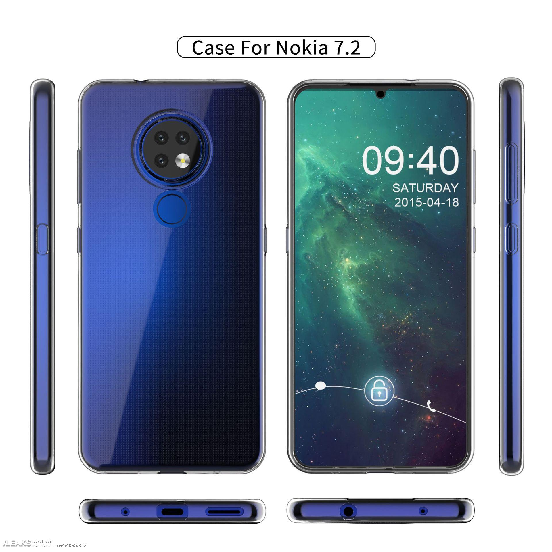 Nokia 7.2 чехол рендер