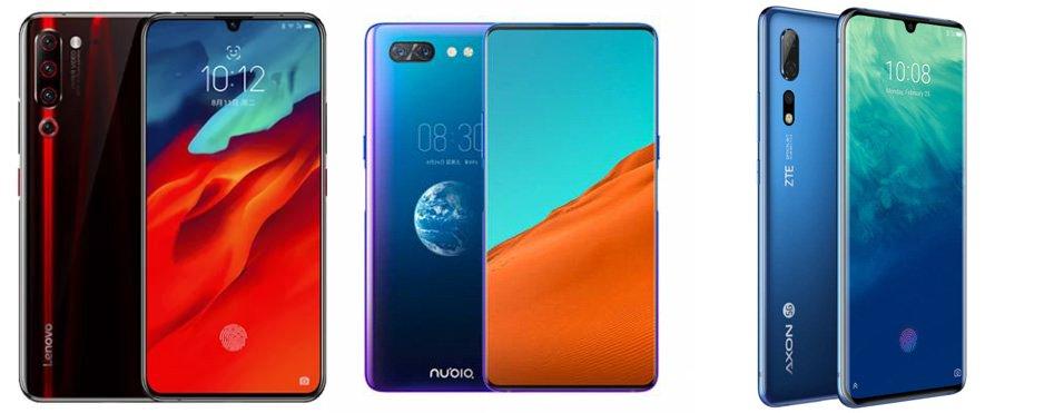 Lenovo Z6 Pro 5G против Nubia X 5G против ZTE Axon 10 Pro 5G