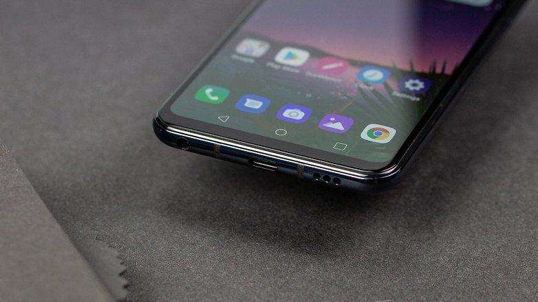 LG G8S тонкие нижние порты