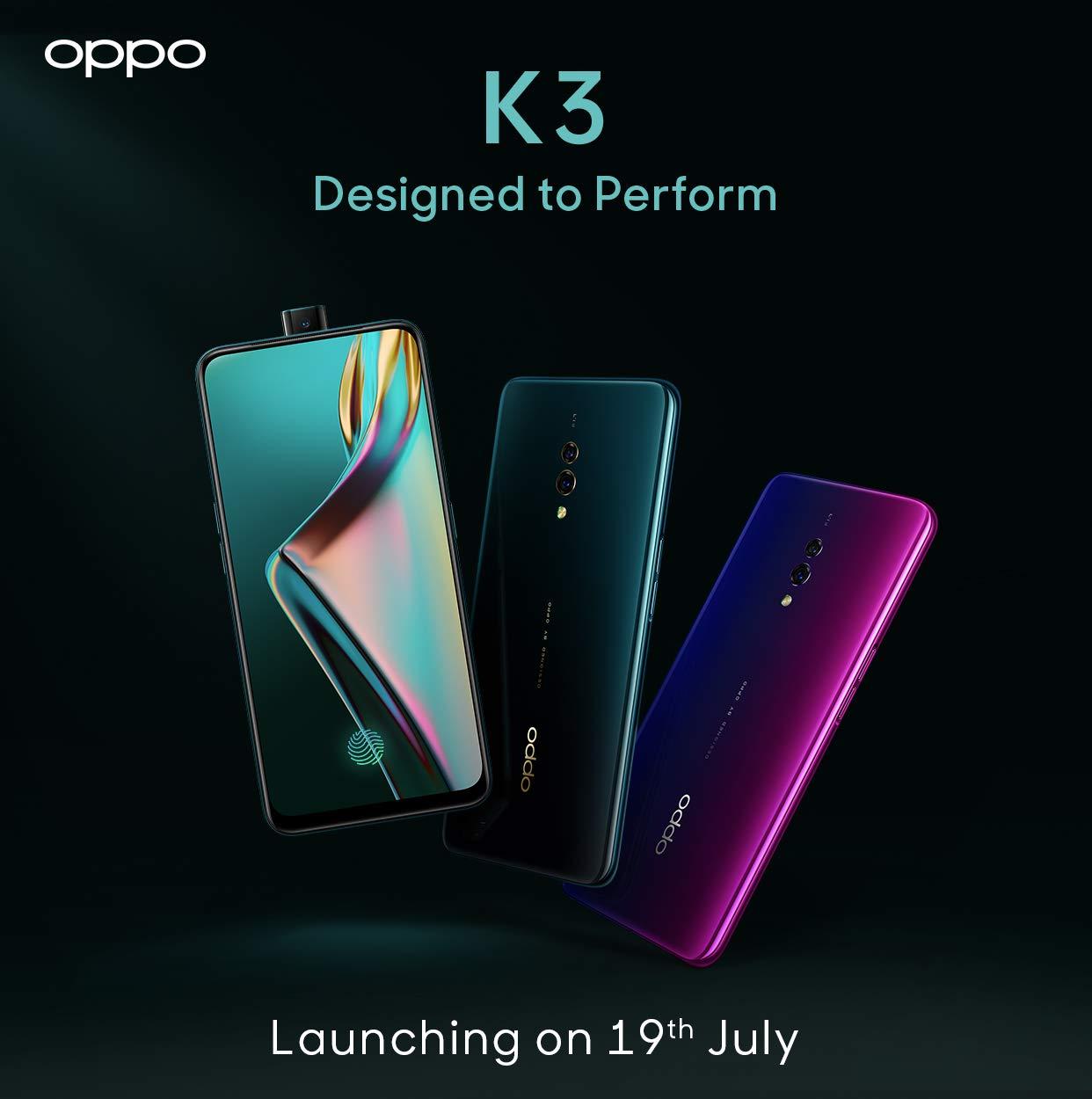Дата запуска Oppo K3 India
