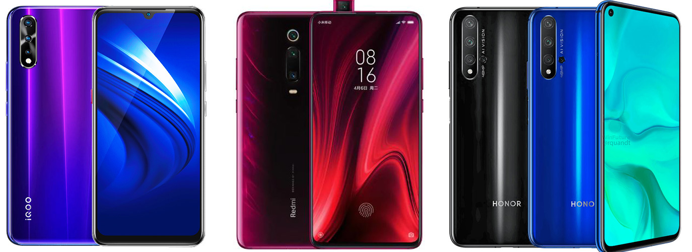 Vivo iQOO Neo vs Redmi K20 Pro vs Honor 20