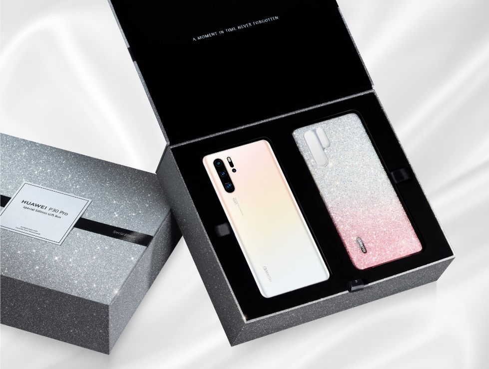 Huawei P30 Pro Limited Edition Pearl White in Special Gift Box with Glamorous Case