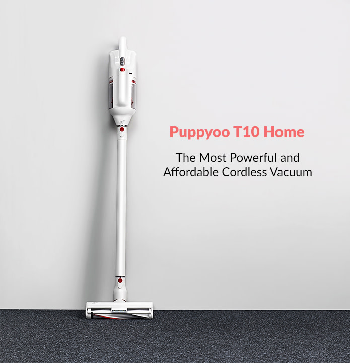 PUPPYOO T10 Home Cordless Vacuum Cleaner