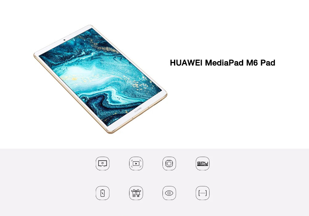 Huawei MediaPad M6 4G (versions chinoise et anglaise)