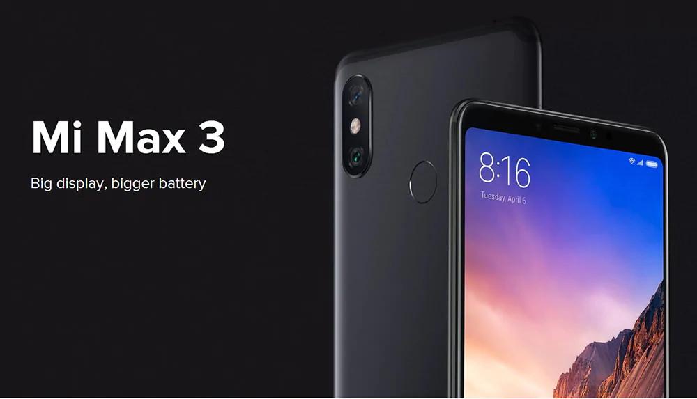 xiaomi mi max 3 smartphone