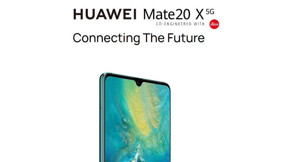 "HUAWEI Mate20 X 5G Smartphone 7.2"" Ultra Large OLED ДИСПЛЕЙ Kirin 980+Balong 5000 8GB 256GB 40.0MP Leica Triple Cameras 4200mAh Battery 40W Supercharge - Emerald Green"