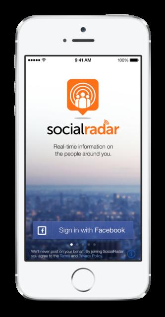 SocialRadar на смартфоне