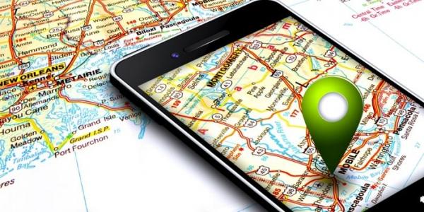 फोन में मैप पर लोकेशन