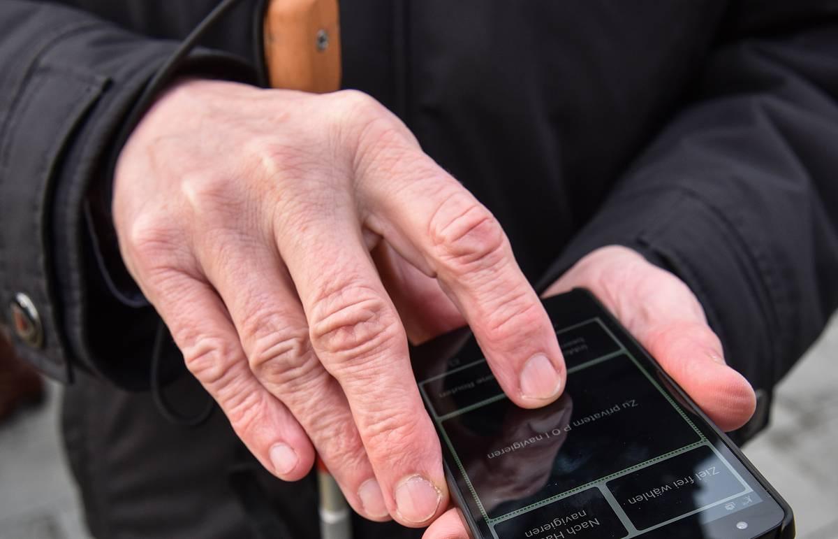 ميزات استخدام الهواتف من قبل الأشخاص الذين لا يرون أي شيء