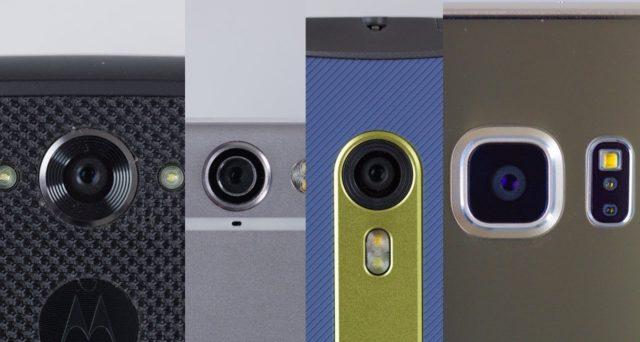 verschillende camera's op telefoons