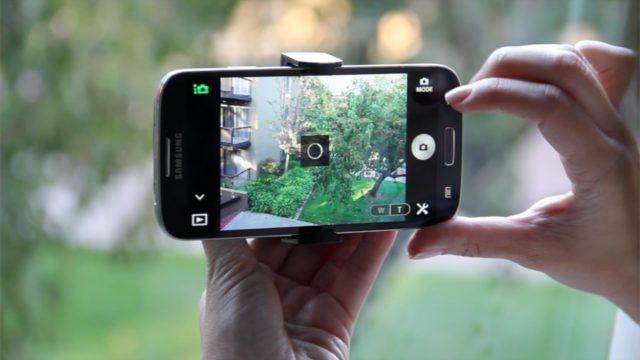 foto van een telefoon met een goede camera