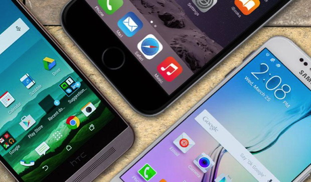 Drie smartphones