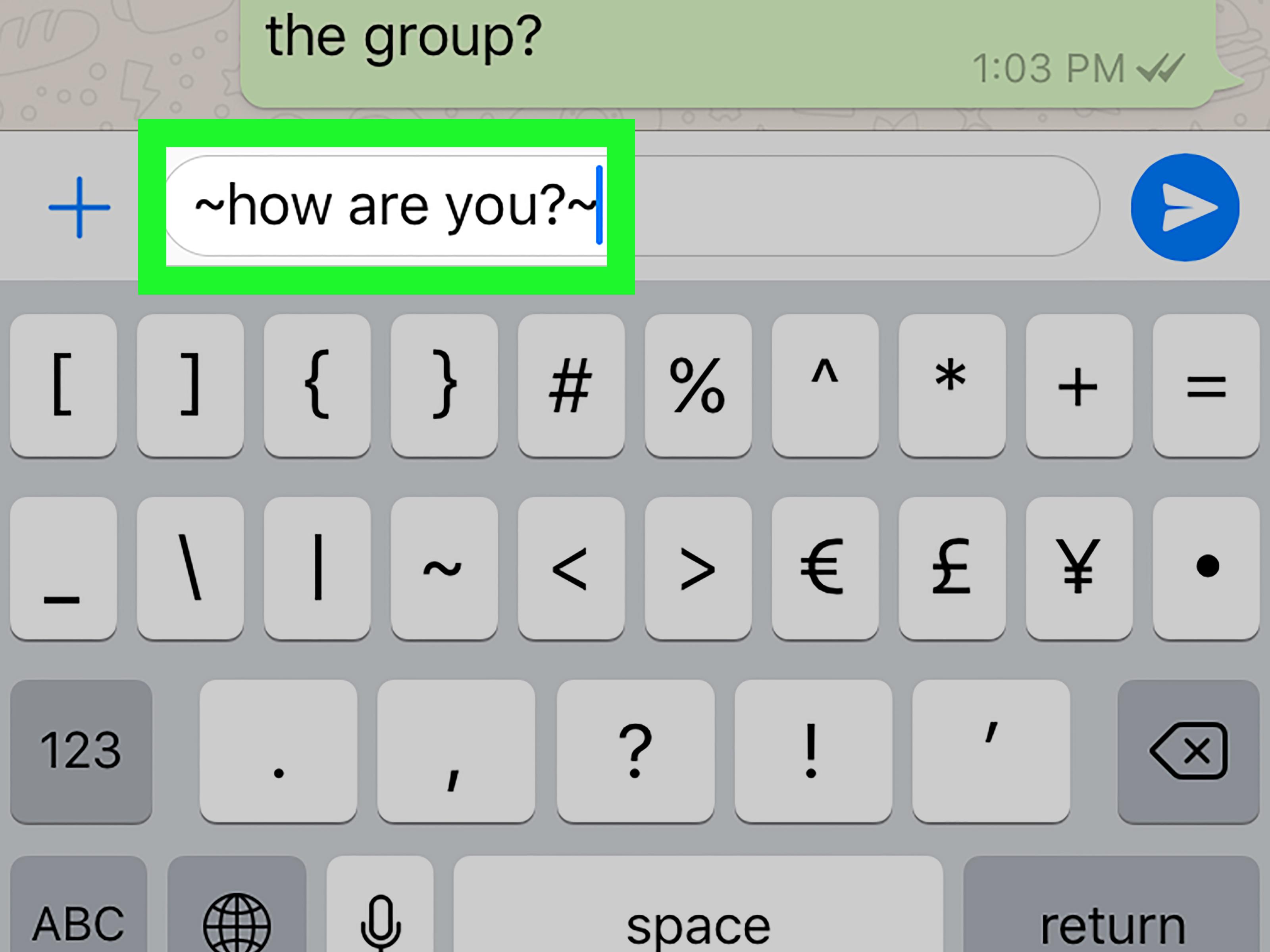 Het lettertype wijzigen in Whatsapp