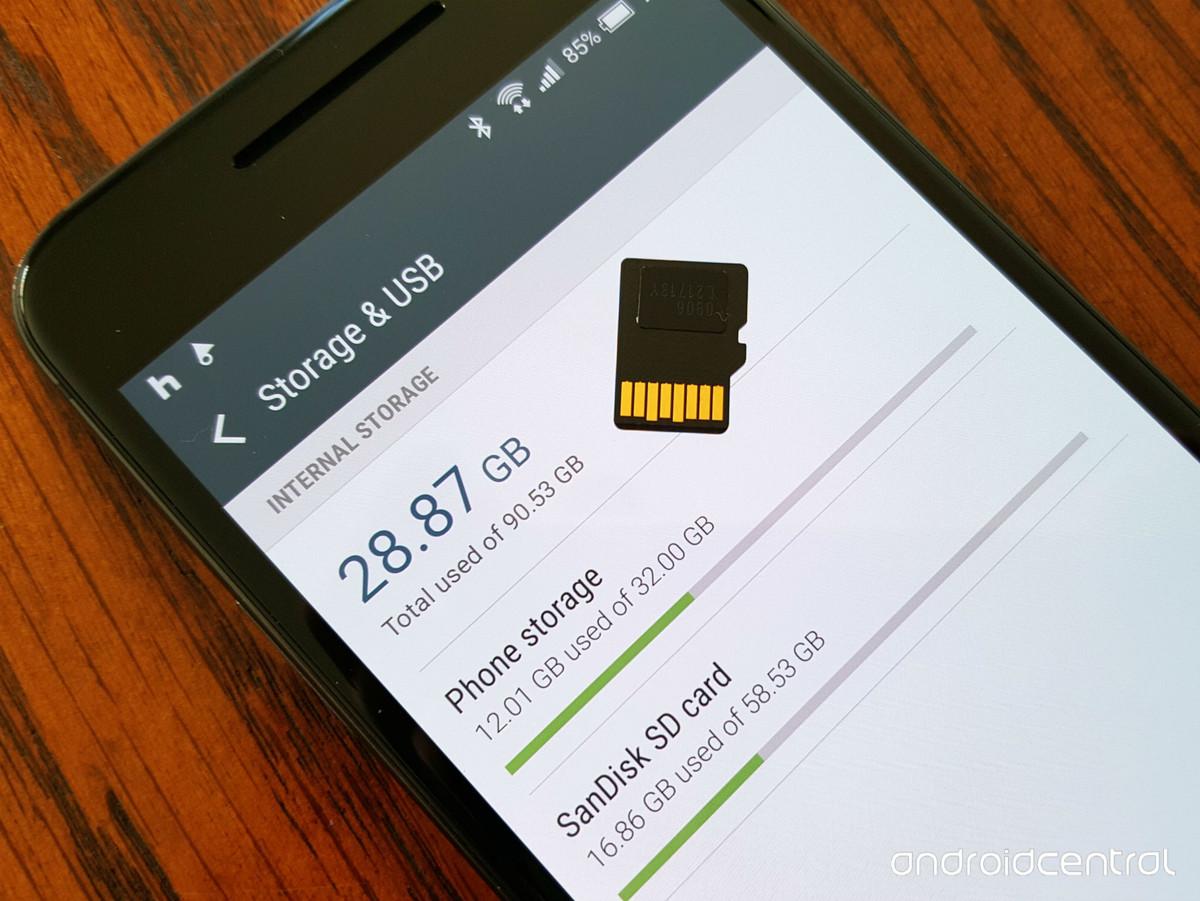 Можно ли объединить память телефона и карты памяти