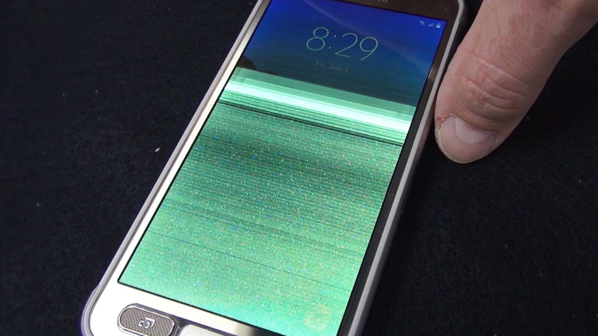 Мерцание экрана телефона