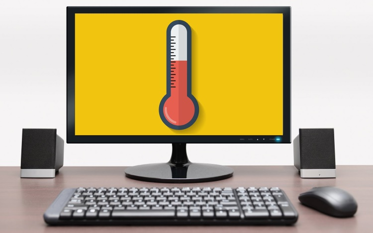 Programs for measuring the temperature of important computer elements