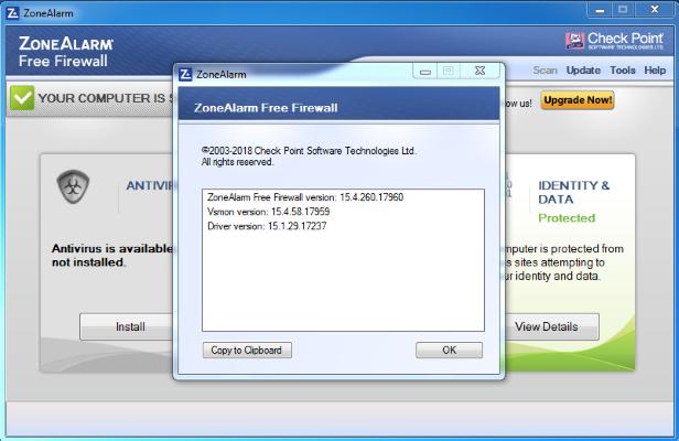 ZoneAlarm Free Firewall 2019