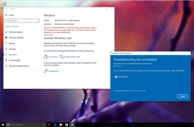 Windows-activering