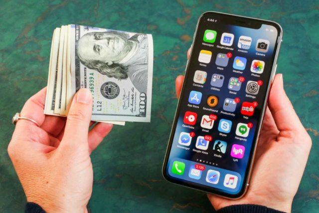 Money and smartphone