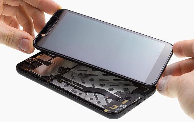 Smartphone démonté