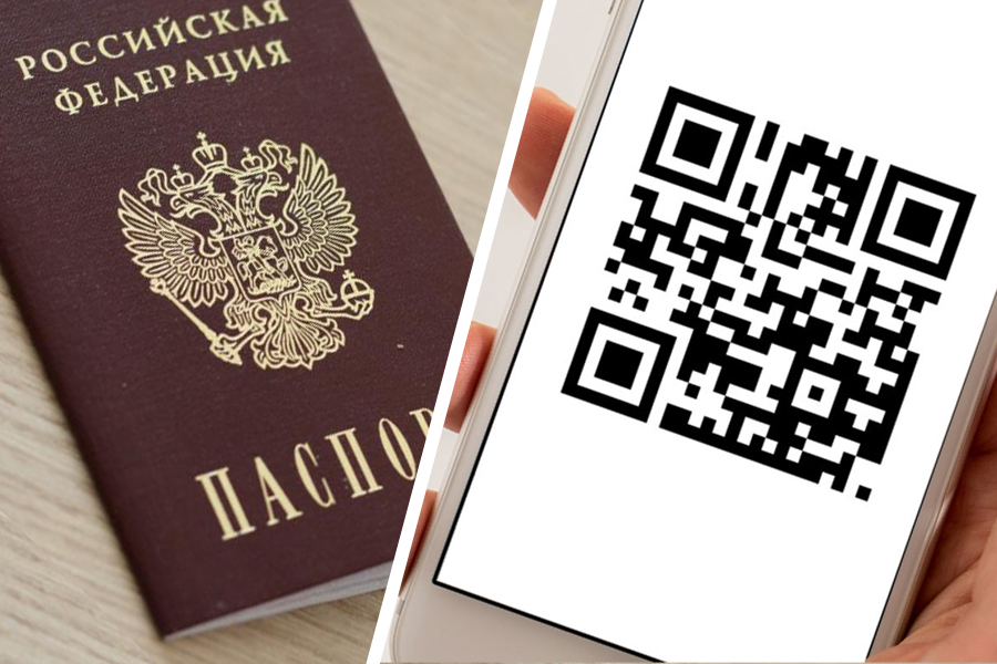 QR code instead of passport