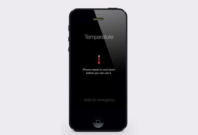 Температура телефона
