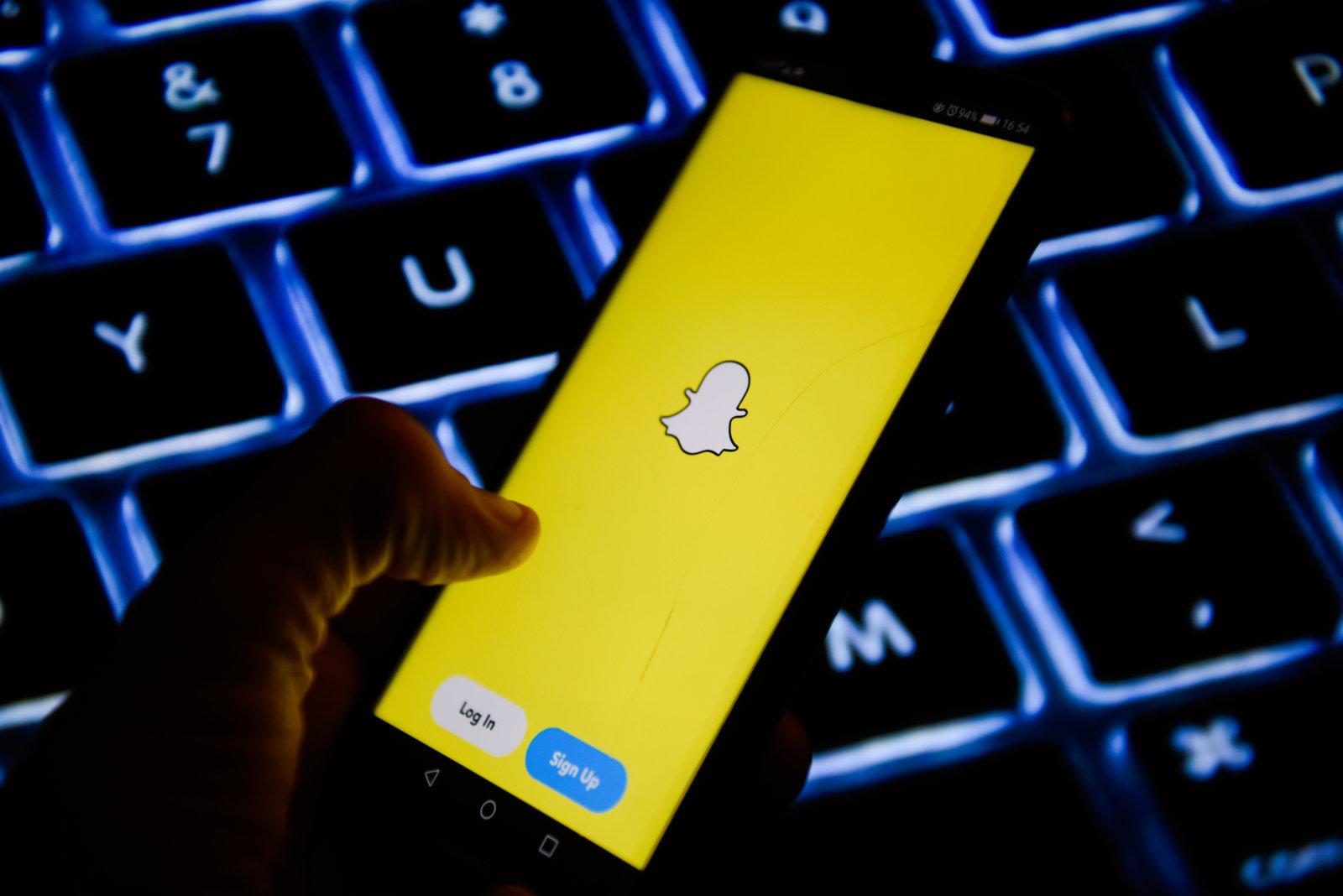 Smartphone con Snapchat